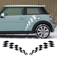 Side Skirt Body Decal Sticker Checker Flag Style for BMW Mini Cooper R56 R57 R58 Clubman R55 F54 R60 F56 F55 R61 Car Styling