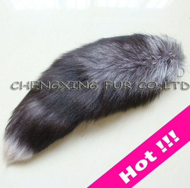 FREE SHIPPING High Quality  Fox Fur Tail Key Ring ~ Natural Colour ~ Drop Shipping