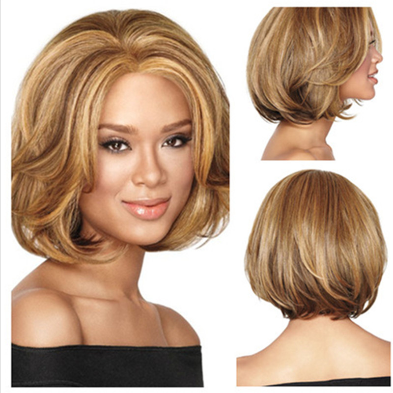 honey blonde african american wigs free shipping 1pc ...