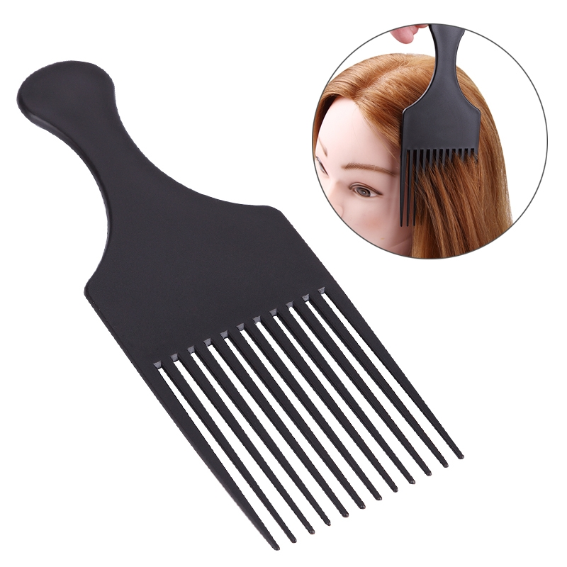 Mayitr 1pc Professional Salon Hairdressing Comb Plastic Black Wide Long Tooth Hair Comb Hair Styling Tool