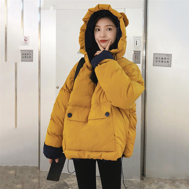 Cheap 2018 New Autumn Winter Jacket Women Coat Hooded Female Down Jackets Warm Short Parka Casual Outwear Inverno Parka Wadded X46