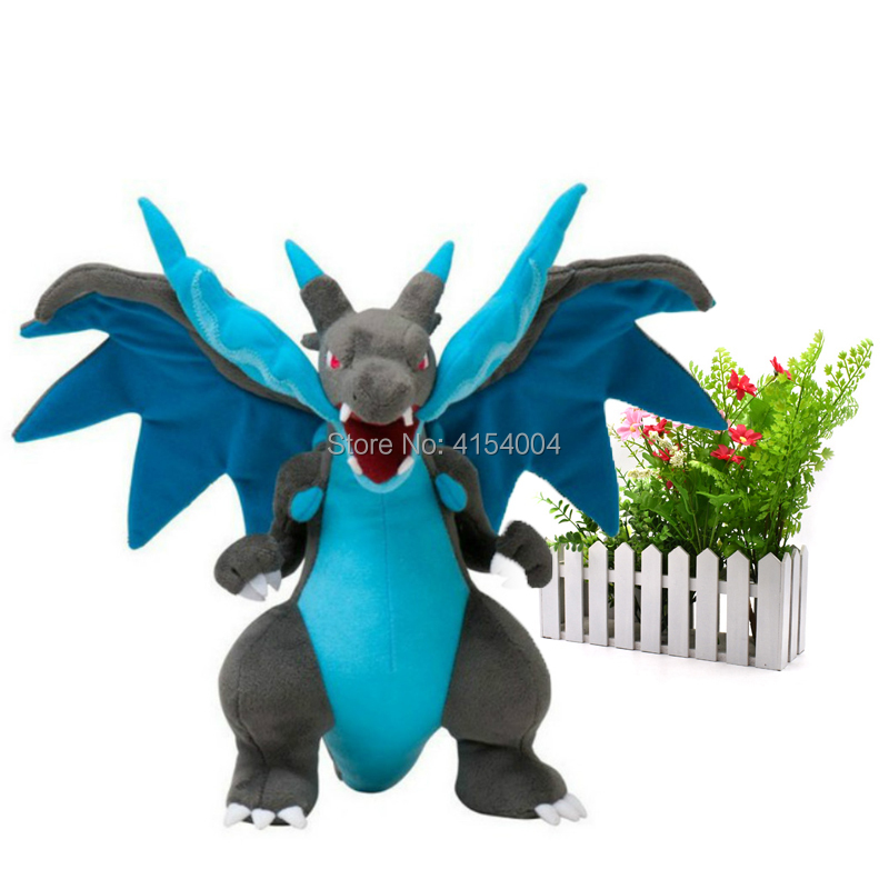 10pcs/lot Mega Charizard X Mega Evolution Quality Toys Peluche Anime Stuffed Plush For Kids 9