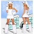 Sin tirantes Sexy Adultos Disfraces Vestido Para Las Señoras de Halloween Cosplay Blanco Novia Carnaval Fantasias Mulher Cltohes Christamas Fiesta