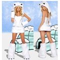 Strapless Sexy Trajes Adultos Vestido Para Senhoras Cosplay Halloween Fantasias de Noiva Branco Carnaval Mulher Cltohes Christamas Partido