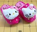 Cute Hello Kitty Cat детские Зимний Хлопок Тапочки Девушки Коробки Бантом Домашние Тапочки Обувь