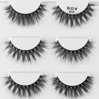 3Pairs Handmade 3D Natural Cross Thick Long False Eyelashes Voluminous Wispy Lashes Extension Reusable Eyelash Eyes Makeup Tools False Eyelashes