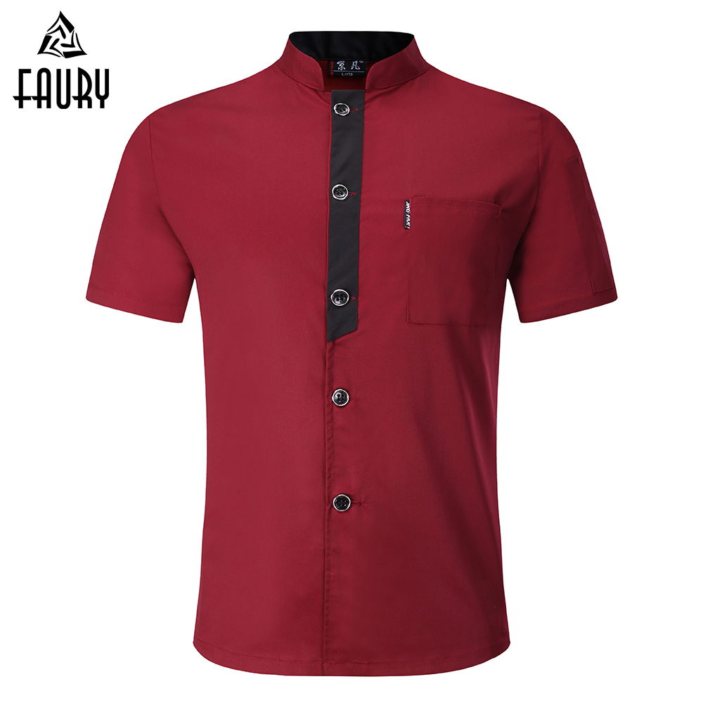 New Arrival M-3XL Unisex Kitchen Chef Uniforms Short Sleeves Breathable Double Breasted Chef Jacket & Aprons Bakery Food Service