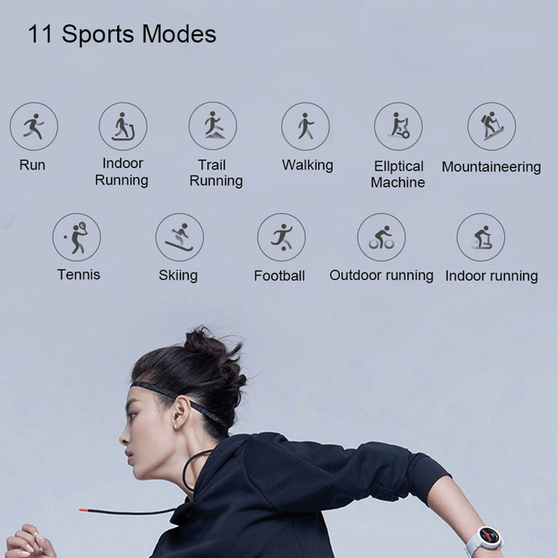 シャオ mi Amazfit 間際英語版スマート腕時計華 mi mi 1.3 インチ Amoled スクリーンアップグレード時センサー GPS IP68 防水  グループ上の 家電製品 からの スマートウォッチ の中 3