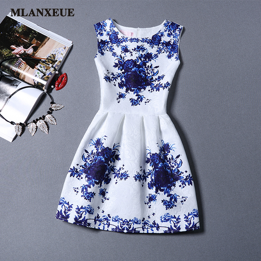 Women Fashion Dress Breathable Retro Leisure Printing Sleeveless Summer Sexy Party Dresses Vestidos Large Size Bottoming Dress