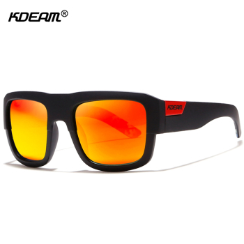 KDEAM Patchwork Black Sunglasses Polarized Surf-athletic Sun Glasses Men Street Sence Sunglass Women With Protective Case