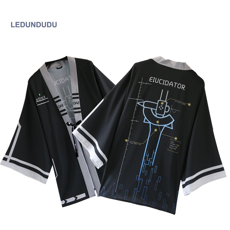 Sword Art Online Bathrobes Chiffon Pajamas Cloaks SAO Kazuto Kirigaya Cosplay Costumes Yukata Coat Casual Tops Plus size
