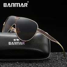 BANMAR Fashion Driving Sun Glasses For Men Polarized Sunglasses UV400 Protection Brand Design Eyewear High Quality
