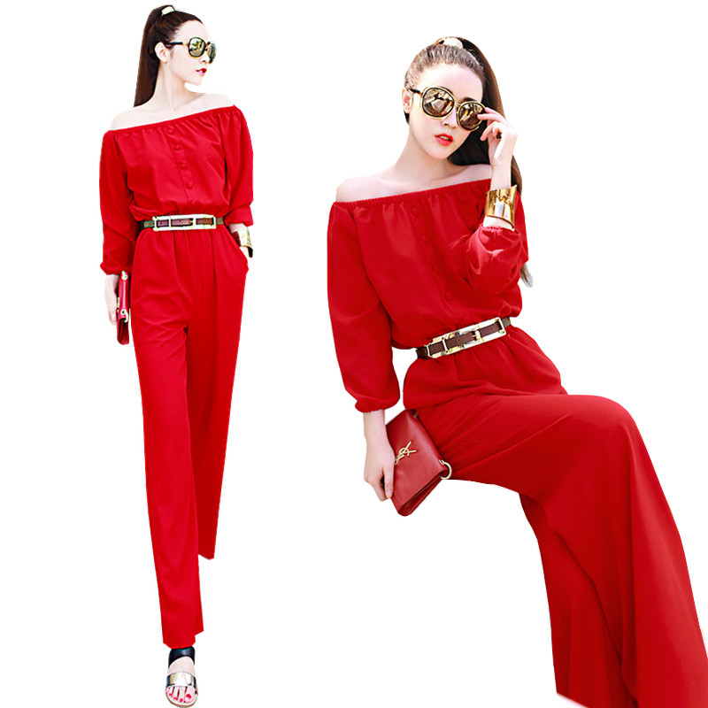 Online Buy Wholesale red jumpsuit from China red jumpsuit ...