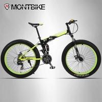 UPPER Mountain Bike Double Hanging System Steel Folding Frame 24 Shimano Shimano Mechanical Brakes 26 X4