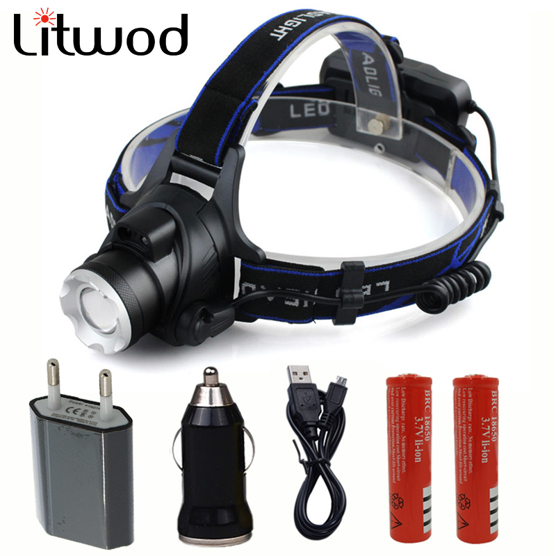 Z20568 Rechargeable LED Headlamp <font><b>3000Lm</b></font> T6 / L2 Body Motion Sensor Headlight Camping Flashlight Head Light Torch Lamp image