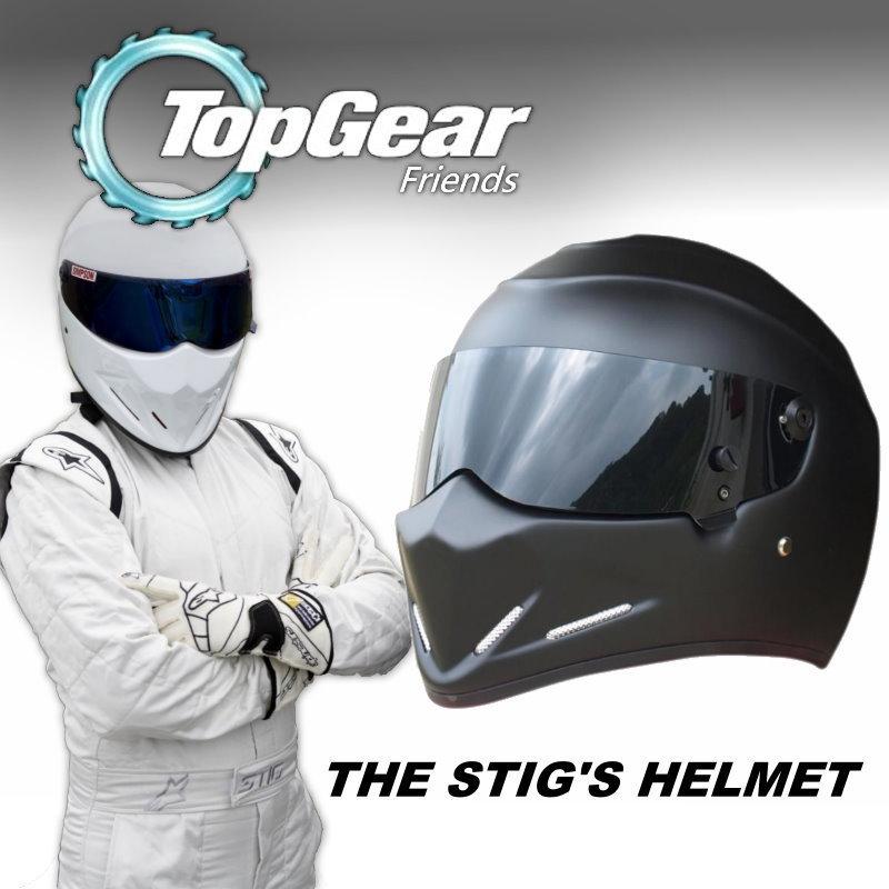 For TopGear Stig's Helmet / Collectable / as SIMPSON Helmet / Motorcycle Helmet / The STIG Matte Black Helmet with Black Visor topgear the stig helmet capacete casco de