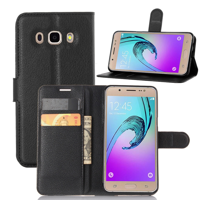 newest 9aba3 d51d3 For Fundas Samsung Galaxy J5 2016 Book Cover Case Silicone PU Leather  Wallet Flip Cases for Coque Samsung Galaxy J510 J510FN -in Wallet Cases  from ...