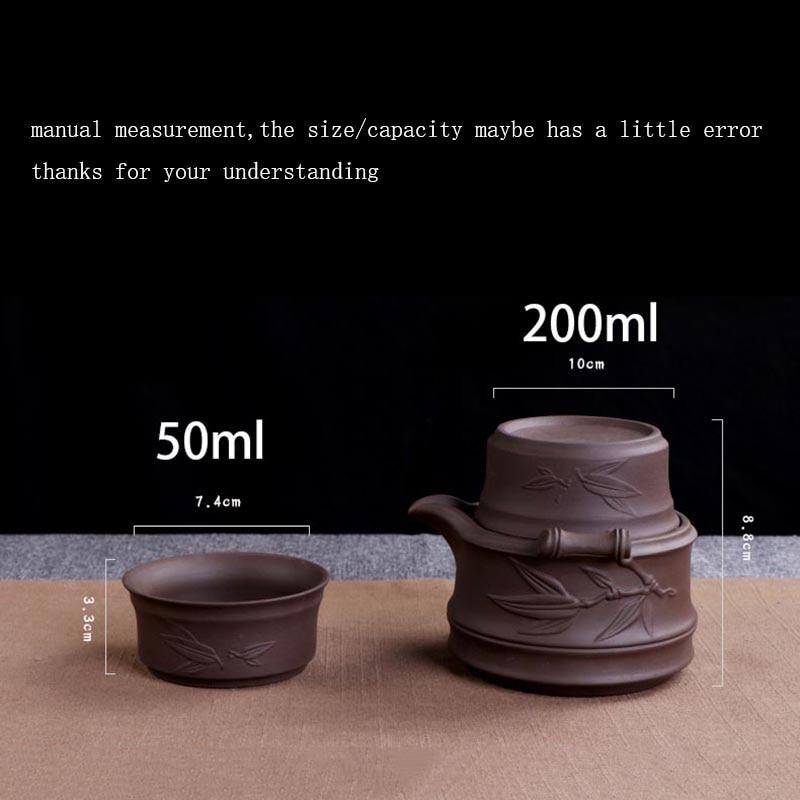 Vintage Ceramic Purple Clay Teaware Set 1
