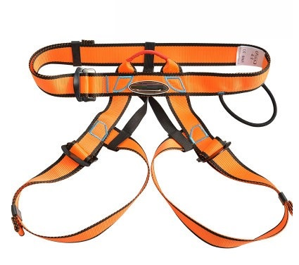 Outdoor safety belt mountaineering rock climbing cable harness rope