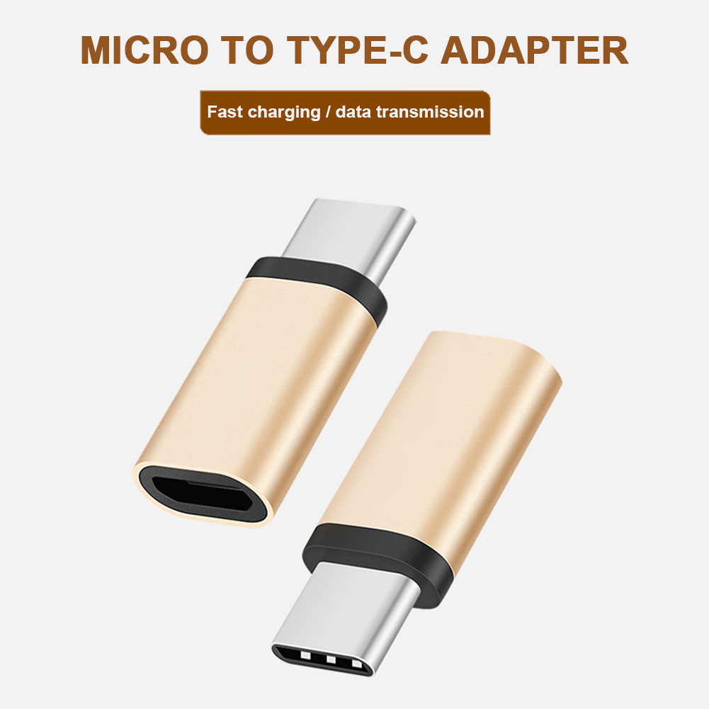 Etmakit Type-C Male To Micro USB Female Adapter Converter Connector For Xiaomi HuaWei P9 Letv Random Color NK-Shopping