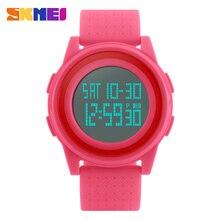 SKMEI часы Для женщин часы цифровые пары Для мужчин спортивные часы назад Lighte Chrono Для женщин наручные часы relogio feminino reloj mujer 1206