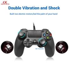 Wired joystick Game Controller Joystick for sony 6Monnths warranty  for PS4 Joystick Joypad blue and black color