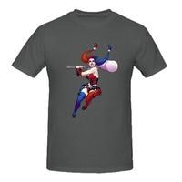 Rttmall 2017 хип-хоп Рок Футболки для девочек 100% хлопок Харли Квинн personized мужские футболки художник отряд самоубийц Camiseta веселого досуга Топ