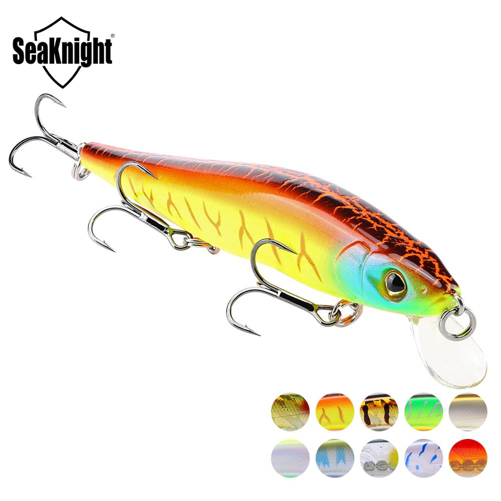 SeaKnight SK020 Fishing Lure 1PC Minnow 14g 110mm 0-1M Depth Wobbling Minnow Floating Lure Hard Bait Fishing Wobblers 10 Colors