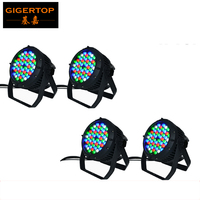 4Pcs/Lot High Quality 54x3W RGBW Waterproof LED Par 64 Light DMX 8Channels Led Par Cans 54Pcs Waterproof IP 65 Rank Stage Light light bulbs for can lights light covers for ceiling lightslighted magnifying glass 10x -