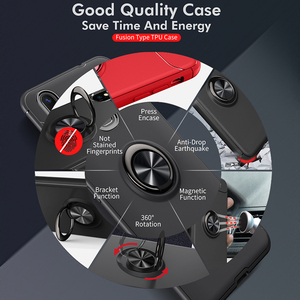 Image 4 - Armor case Voor Xiao mi mi max 3 case Beschermende Bumper Vinger Ring Houder Zachte Siliconen Matte Back Cover Voor Xiao mi max 3 Gevallen