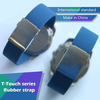 20mm 21mm Silicone Rubber WatchBand Strap Bracelet for Tissot TOUCH T013420 T047420 Sports Watch Waterproof Watchband Z253 Z252 1