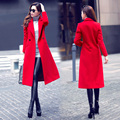 Long design wool coat outerwear female 2015 winter trench elegant slim suit collar cashmere overcoat