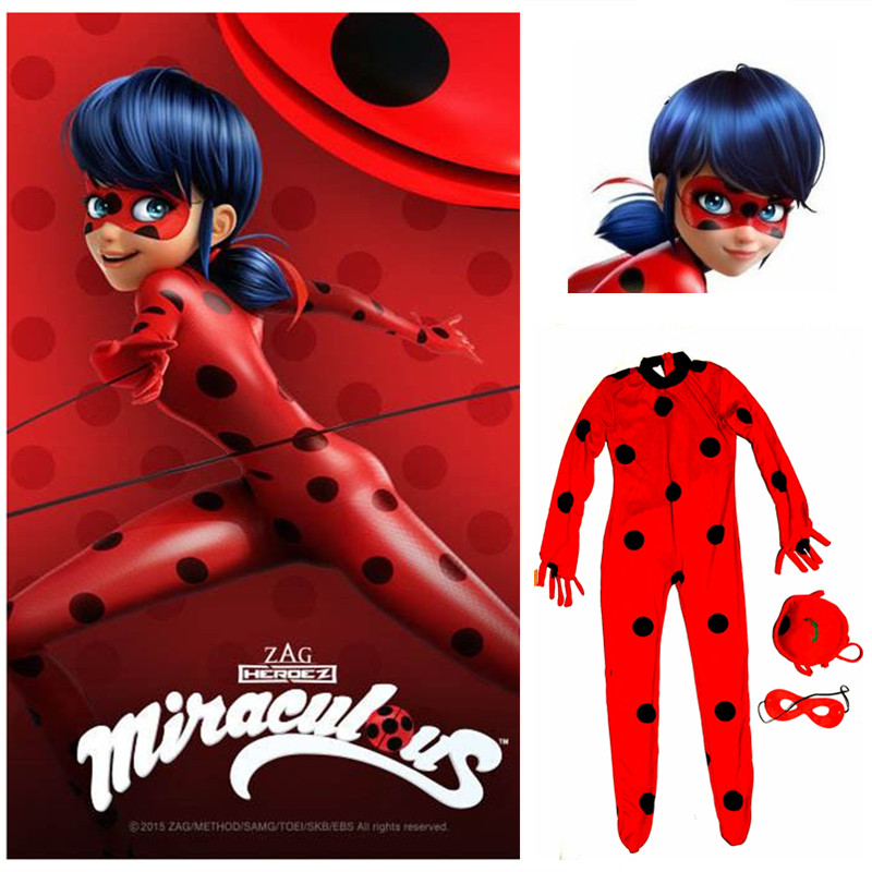 Poole Festival Fantasia Spandex Ladybug Costumes kids Adult cosplay Christmas party bag girls children lady bug Zentai Suit