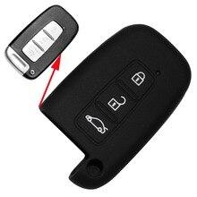 3 Кнопка Ключ Силиконовый Чехол Автомобилей Стайлинг Крышка подходит для Hyundai HB20 Solaris Акцент Elantra IX35 i30 Veloster SR Smart Remote Key