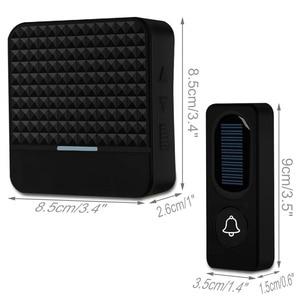 Image 3 - Forecumソーラー防水ワイヤレスドアベルバッテリなしeu米国英国プラグスマートドアのベルチャイム1ボタン1受信機ledライト