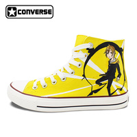 Converse Skateboarding Shoe Men Women Athletic Sneakers Durarara High Top Hand Painted Anime Shoes Canvas Flats