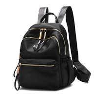 Waterproof PU Leather Small Backpack Purse for Women School Drawstring Bag for Girls Travel Mini Bagpack