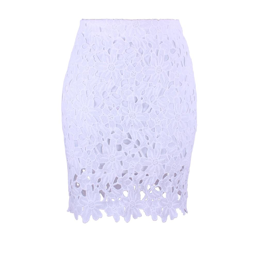 Белая Летняя облегающая женская юбка карандаш с высокой талией, кружевная ажурная офисная одежда для работы, Новая женская юбка Юбки      АлиЭкспресс