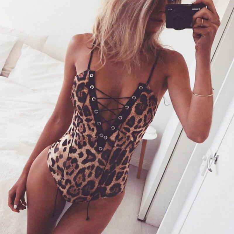 Womens Body Sexy Hot Erotic Catsuit Leopard Lace Lingerie Bodysuit Nightwear Underwear Sleepwear Lenceria Femenina Sexy Suit