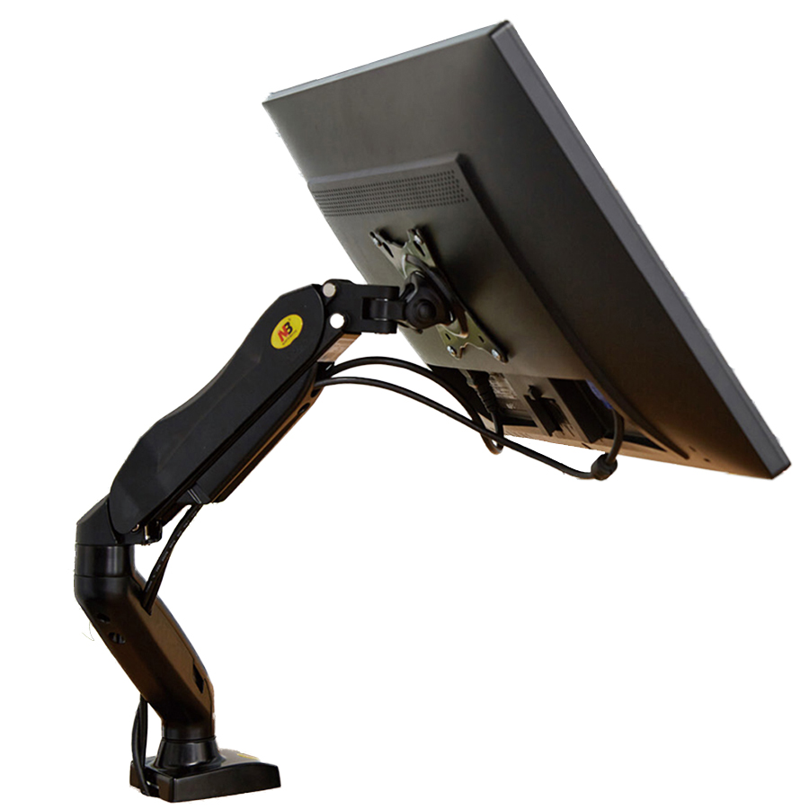 """Desktop Gas Frühling 17-27 """"lcd Led-monitor Halter Arm Full-motion Gas Strut Flexi Monitor Montieren Unterstützung Laden 2-6.5kgs Nb F80 Um Der Bequemlichkeit Des Volkes Zu Entsprechen"""