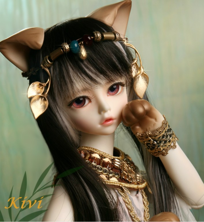 Soom Trond & amp; Kiva cat luts doll sd doll bjd / sd1 / 4doll volk birthday gift to send eyelashes free shipping 1 4 bjd lovely doll unoa lusis soom sisit female doll wood araki sd luts doll ball jointed doll