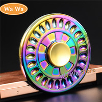 Round Colorful High Speed Handspinner Toys Metal Double Spinner Stress Hand Spinner For Autism ADHD Anxiety