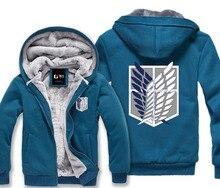 Attack on titan jacket shingeki no kyojin Scratched Velvet hoodies Sweatshirt cosplay anime costume for couples winter jacket
