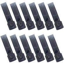 12PCS QingGear สั้น 3 นิ้ว MOLLE Kydex OTW คลิปสีดำทนทานระบบ MOLLE ยุทธวิธี Malice สายคล้องคลิป