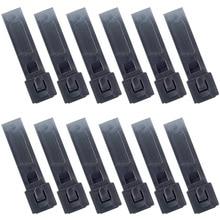 12PCS QingGear קצר 3 אינץ MOLLE Kydex OTW קליפים שחור עמיד טקטי Molle מערכת זדון רצועת קליפ
