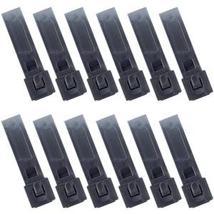 Image 1 - 12PCS QingGear Kurze 3 Zoll MOLLE Kydex OTW Clips Schwarz Langlebig Tactical Molle System Malice Strap Clip