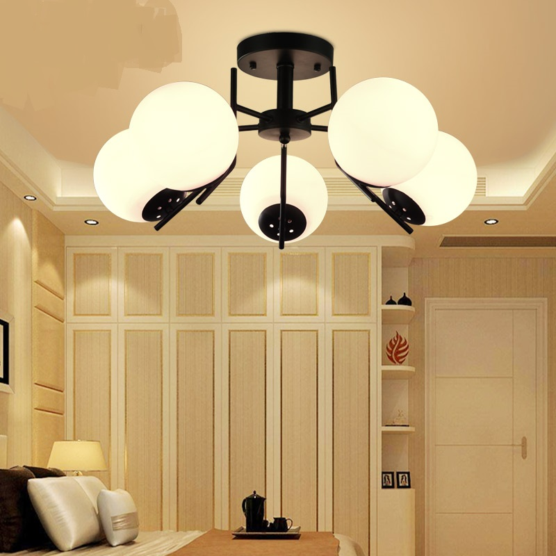 Modern simple living room lamp led Ceiling Lights creative round ball bedroom lighting Nordic personalized restaurant LU807126