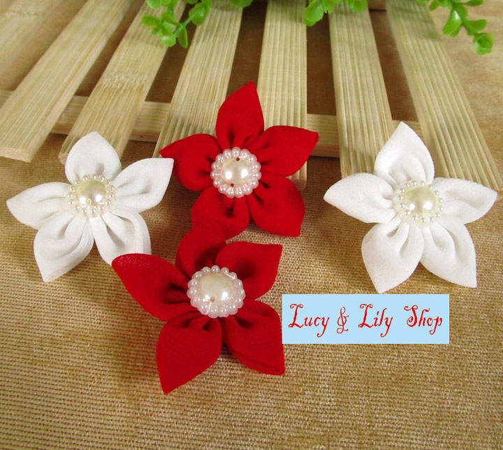 Buy super elegant chiffon fabric flowers for Small flowers for crafts