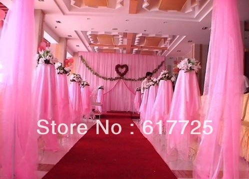 For Background Of Wedding Decoration Chair ORGANZA 0.75m X 110 Meters Roll EMS Free Shipping event party supplies