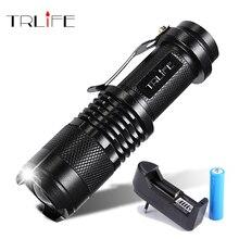 LED el feneri Q5 T6 L2 Mini taşınabilir meşale ayarlanabilir Zoom flaş işığı lambası kullanımı 14500 ve 18650 pil bisiklet ışık